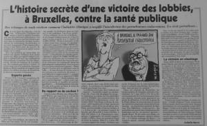 Article du Canard -27.5.2015-Pertiurbateurs andocriniens