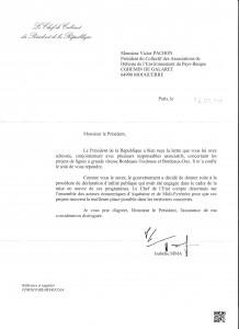 GPSO réponse présidence