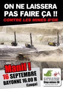 affiche manif mines d'or